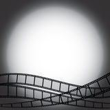 Film strips. Dark backgroud with film strips Stock Photography