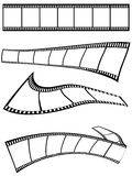 Film strips design. Isolated film strips design on white background Royalty Free Stock Images