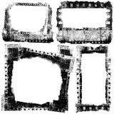 Film stripes grunge frame. Film strips with frame in grunge style Royalty Free Stock Images