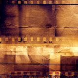 Film strips. And grunge paper Royalty Free Stock Photography