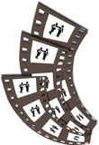 Film Strips. Illustration of film strips is  on white background, created in illustrator software Stock Images