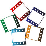 Film strips logo. Vector illustration of 35 mm film strips logo Royalty Free Stock Photography