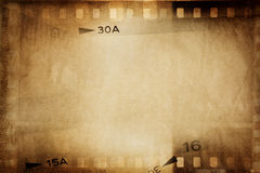 Film strips. Film negative frames, film strips border Royalty Free Stock Photos