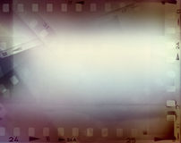 Film strips. Film negative frames, film strips border Stock Photo