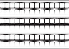 Film strips in a row Stock Image
