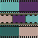 Film strips seamless pattern, retro background, vector. Illustration Stock Photo