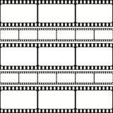 Film strips seamless pattern, retro background, vector Royalty Free Stock Photos