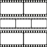 Film strips seamless pattern, vector Royalty Free Stock Image