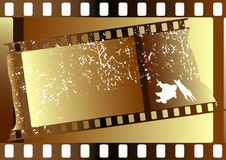 Film strips (vector). Film strips  grunge on white background for design Stock Photography