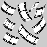 Film strips. Vector illustration of film strips Stock Image