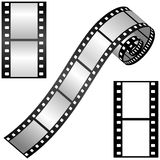 Film strips. Vector illustration of film strips Royalty Free Stock Images
