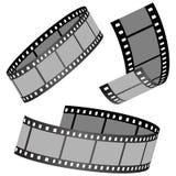 Film strips. Vector illustration of film strips Stock Image