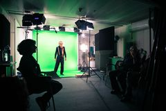 Film Studio, Green, Technology, Electronic Device royalty free stock photography