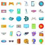 Film studio icons set, cartoon style. Film studio icons set. Cartoon style of 36 Film studio vector icons for web isolated on white background Royalty Free Stock Image