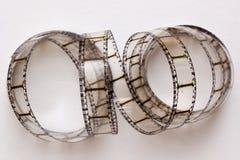 Film su un fondo bianco Fotografie Stock