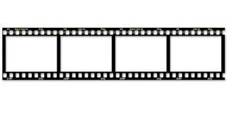 Film sur un fond blanc illustration libre de droits