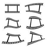 Film tape art cinema vector Royalty Free Stock Photos