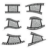Film tape art design vector. Film tape design vector illustration Royalty Free Stock Photography