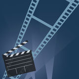 Film tape art movie vector. Film tape movie vector in colorful Royalty Free Stock Images