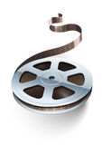 Film tape cinematography video movie disk. For classic vintage cinema theatre. Vector illustration. On white background Stock Image
