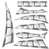 Film tape color art vector part two. Film tape color art vector illustration part two Stock Images