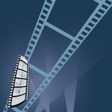 Film tape entertainment vector illustration. In colorful Royalty Free Stock Photography