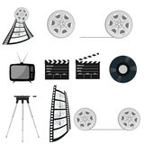 Film tape old vector part four Royalty Free Stock Images