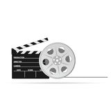 Film tape old vector part two. Film tape old vector illustration part two Stock Photos