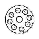 Film tape reel icon image. Vector illustration design Royalty Free Stock Images