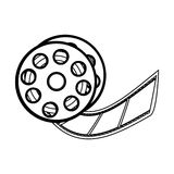 Film tape reel icon image. Vector illustration design Stock Photos