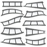 Film tape set roll vector Stock Image
