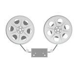 Film tape vector grey illustration. Film tape vector illustration in colorful Stock Image