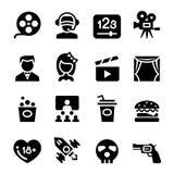 Film teater, biosymbol vektor illustrationer