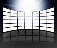 Film and television screens. With white background Stock Images