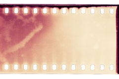 Film texture. Blank grained film strip texture Royalty Free Stock Photos