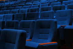Film-Theater-Sitze Lizenzfreie Stockfotografie