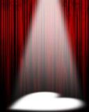 Film of theatergordijn vector illustratie