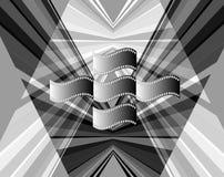 Film theme. Stripes black and white film background, blank frames Stock Photos