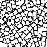 Film Tile. Seamless tile vector texture pattern, black and white film Royalty Free Stock Photos