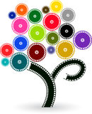 Film tree. Illustration art of a film tree with isolated background royalty free illustration