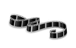 Film. Twisted cinema film isolated on white background, illustration Stock Images