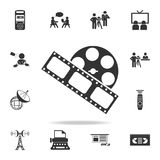 The film and type icon. Detailed set icons of Media element icon. Premium quality graphic design. One of the collection icons for. Websites, web design, mobile Royalty Free Stock Images