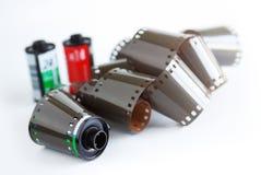 Film und Kanister Stockbilder