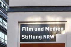Film und medien stiftung nrw sign in dusseldorf germany. Dusseldorf, North Rhine-Westphalia/germany - 12 10 18: film und medien stiftung nrw sign in dusseldorf royalty free stock photos