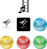 Film- und Musikmediaikone Lizenzfreies Stockbild