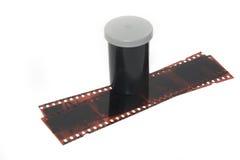 Film und Negative über Weiß Lizenzfreies Stockbild
