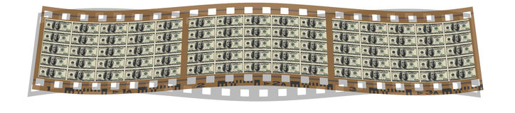 Film with us dollar notes Stock Photos