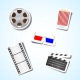 Film vastgesteld pictogram Stock Afbeelding