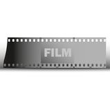 Film vector background. Piece of film strip background vector illustration Royalty Free Stock Images