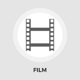 Film vector flat icon. Film icon vector. Flat icon isolated on the white background. Editable EPS file. Vector illustration Stock Images